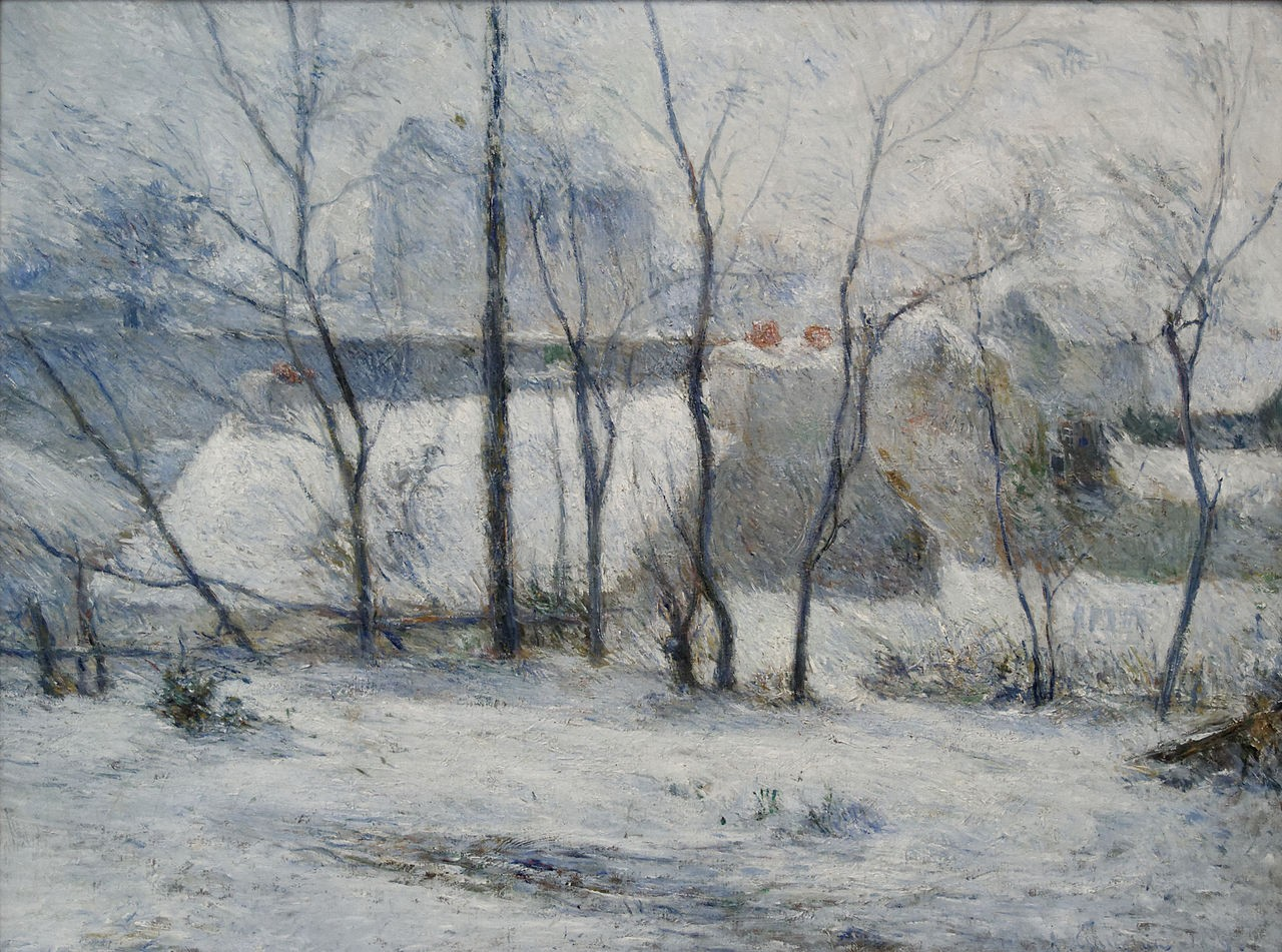 Effect of snow 1879 museum of fine arts budapest hungary